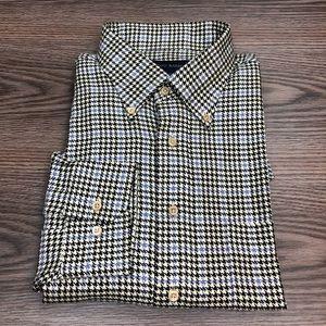Scott Barber Black & White Houndstooth Shirt XL